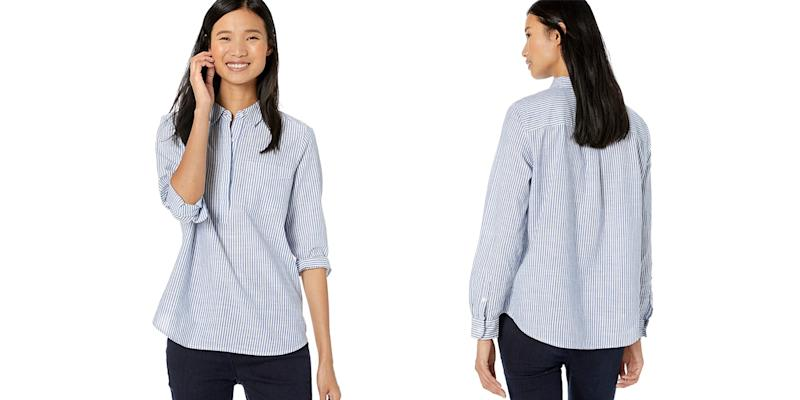Goodthreads Women's Washed Cotton Popover Shirt (Photo: Amazon)