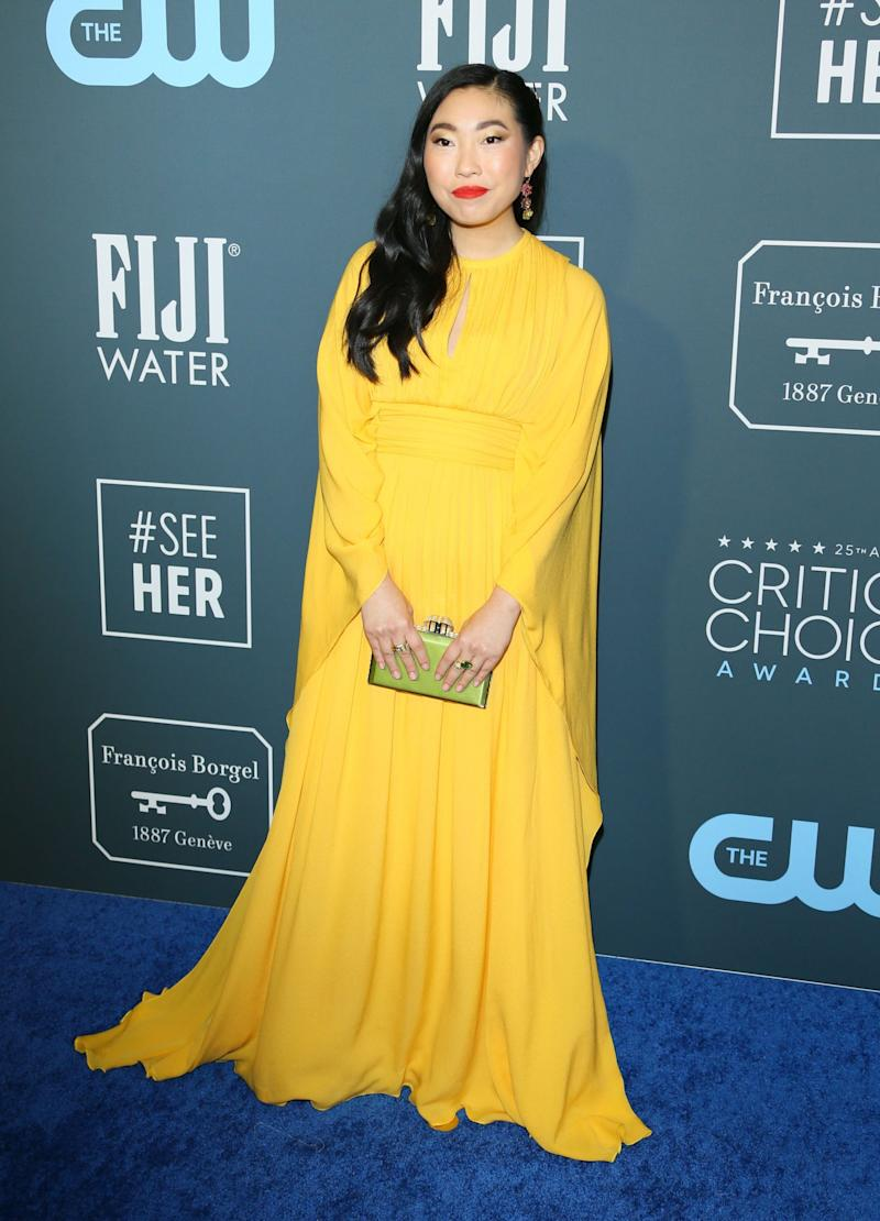 Awkwafina has been invited to join the Academy (AFP via Getty Images)