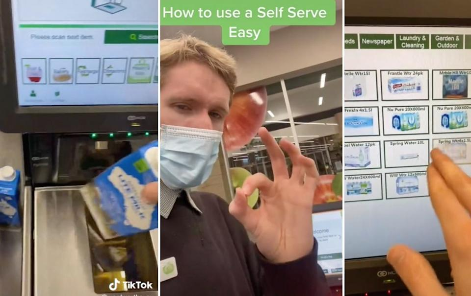 The Woolworths official TikTok launched today with helpful hacks for customers. Source: TikTok