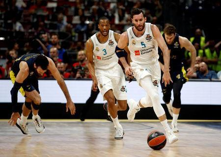 Basketball - Euroleague Final Four Final - Real Madrid vs Fenerbahce Dogus Istanbul - Stark Arena, Belgrade, Serbia - May 20, 2018 Real Madrid's Rudy Fernandez in action REUTERS/Alkis Konstantinidis