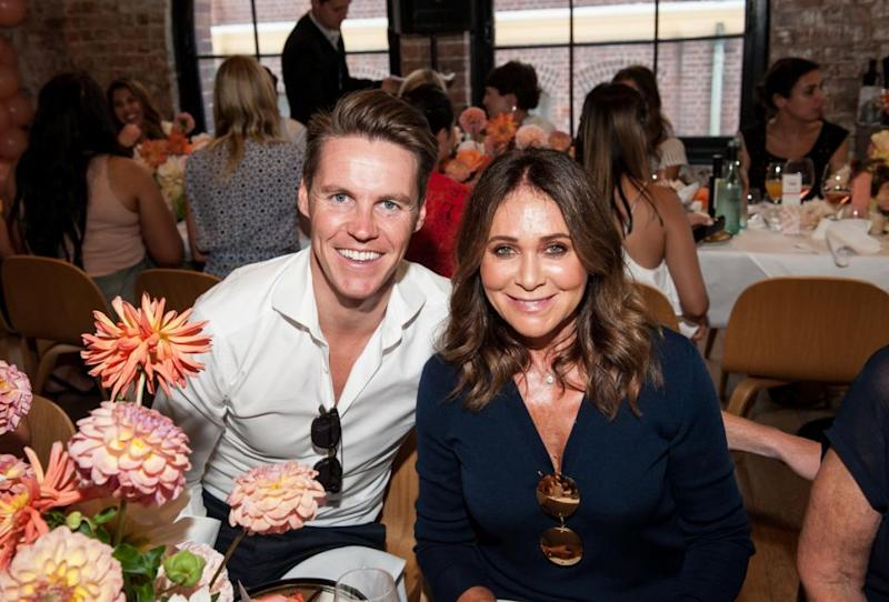 Oliver was also at the event to support his wife and posed for a sweet snap with his mother-in-law Doreen Jacenko. Source: Supplied