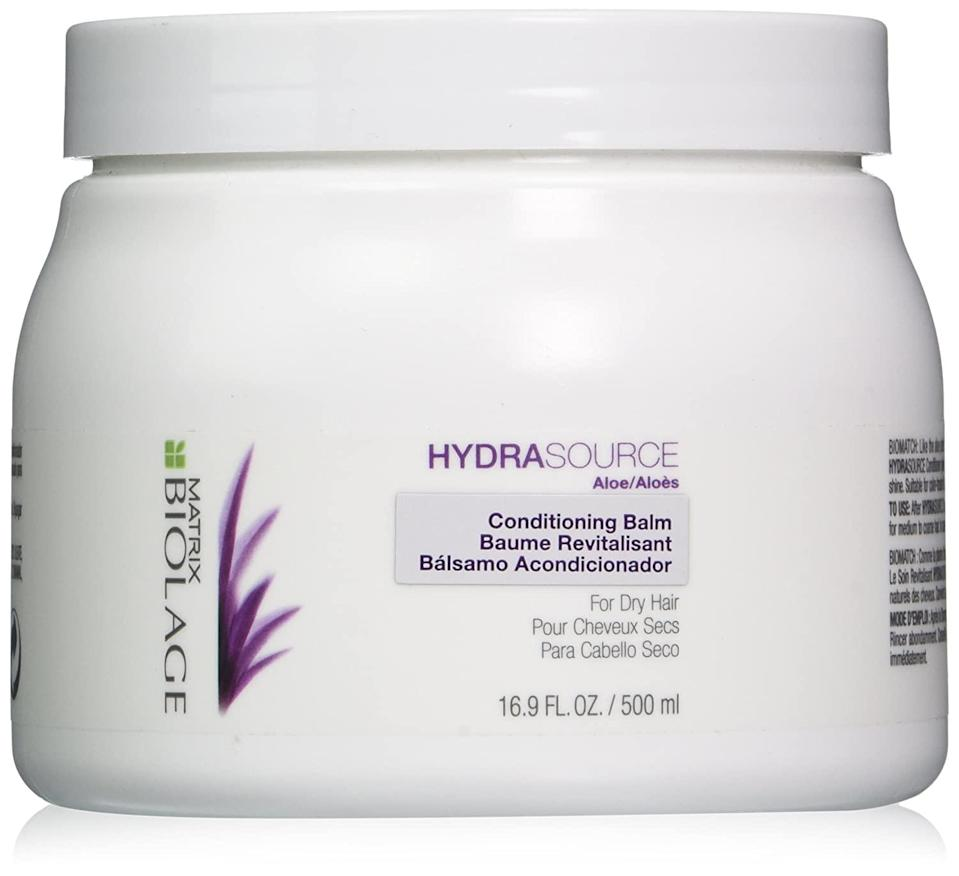 "<h2>Up To 35% Off Biolage<br></h2><br>A handful of celebrity hairstylist favorites from Biolage will be up to 35% off, including the brand's <a href=""https://amzn.to/3iya27R"" rel=""nofollow noopener"" target=""_blank"" data-ylk=""slk:Colorlast Shampoo"" class=""link rapid-noclick-resp"">Colorlast Shampoo</a>, the <a href=""https://amzn.to/36CsnOG"" rel=""nofollow noopener"" target=""_blank"" data-ylk=""slk:Keratindose Pro-keratin Renewal Spray"" class=""link rapid-noclick-resp"">Keratindose Pro-keratin Renewal Spray</a>, and the <a href=""https://amzn.to/2F6NGg6"" rel=""nofollow noopener"" target=""_blank"" data-ylk=""slk:Hydrasource Conditioning Balm"" class=""link rapid-noclick-resp"">Hydrasource Conditioning Balm</a>. <br><br><br><br><strong>BIOLAGE</strong> Hydrasource Conditioning Balm, $, available at <a href=""https://amzn.to/2SA0wq1"" rel=""nofollow noopener"" target=""_blank"" data-ylk=""slk:Amazon"" class=""link rapid-noclick-resp"">Amazon</a>"