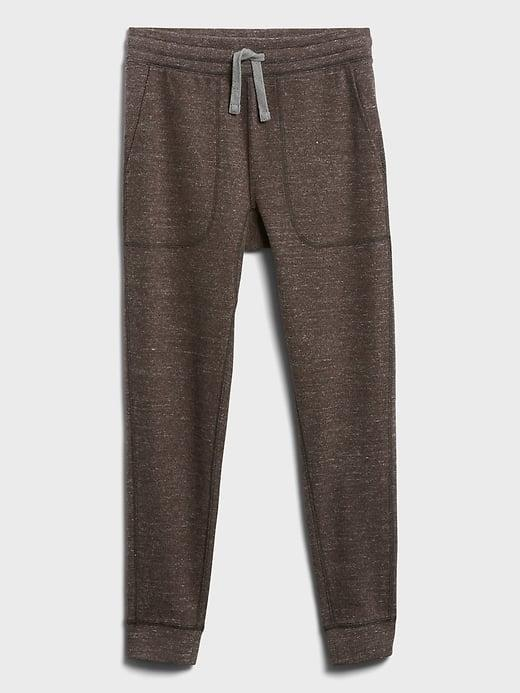 <p>This <span>Banana Republic Brushed Waffle-Knit Jogger</span> ($80) offer a slimmer cut to your traditional sweatpants but still soft and cozy, making them perfect for a family football game to the table!</p>