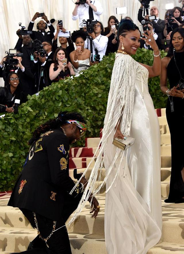2 Chainz proposes to Kesha Ward. (Photo: John Shearer/Getty Images for The Hollywood Reporter)