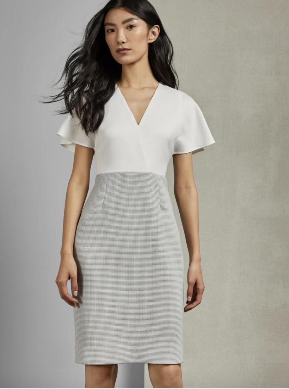 Mockable midi length dress, £119 (was £199). PHOTO: Ted Baker