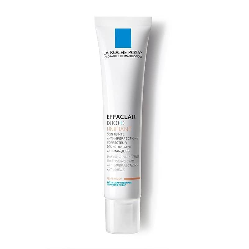 """<p>""""One of my favorites is the <span>La Roche-Posay Effaclar Duo Unifiant</span> ($27). It combines micronized benzoyl peroxide with lipohydroxy acid (LHA) to zap the bacteria that causes acne, exfoliate cell by cell, and renew skin. This treatment is particularly effective because the benzoyl peroxide is formulated into smaller particles to go more deeply into the skin.  In addition, LHA is actually derived from salicylic acid but has a slower penetration so it's more gentle."""" - dermatologist <a href=""""http://instagram.com/dermwithme"""" class=""""link rapid-noclick-resp"""" rel=""""nofollow noopener"""" target=""""_blank"""" data-ylk=""""slk:Nikki Tang"""">Nikki Tang</a>, MD</p> <p>""""For mild acne I love Effeclar Duo Tinted. It has 2% salicylic acid to combat mild breakouts, and the mild tinted color works like a CC cream to neutralize any imperfections."""" - Dr. Schachter</p>"""