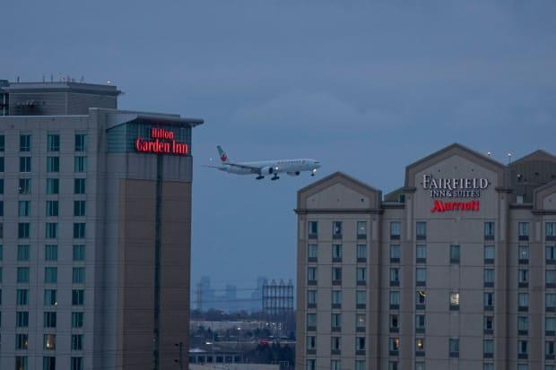 A Public Health Agency of Canada spokesperson said there are now 47 hotels serving as government-authorized accommodations in the four cities accepting international flights,and the agency is adding more hotels to the list. (Evan Mutsui/CBC News - image credit)