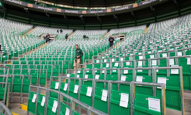 Celtic's safe standing area for more than 2,000 fans was open for the first time at a friendly in July 2016.