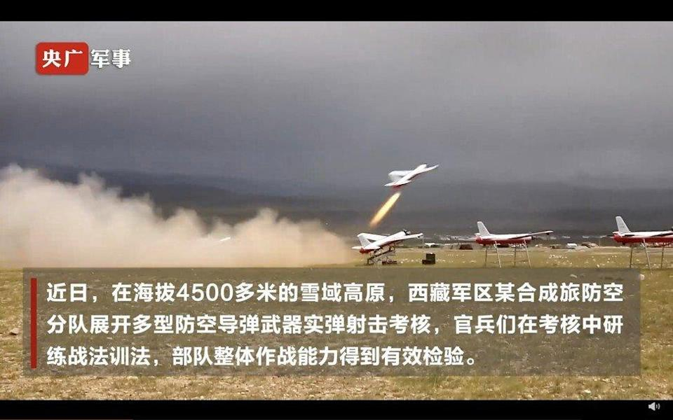 China's state television reported that elements of the PLA's Tibetan Military District went through their paces in a drill near the border with India. Photo: Weibo