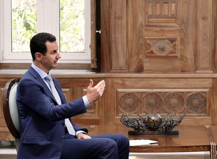 Bashar Assad is believed to be behind the chemical attack on Syrian civilians (Rex)