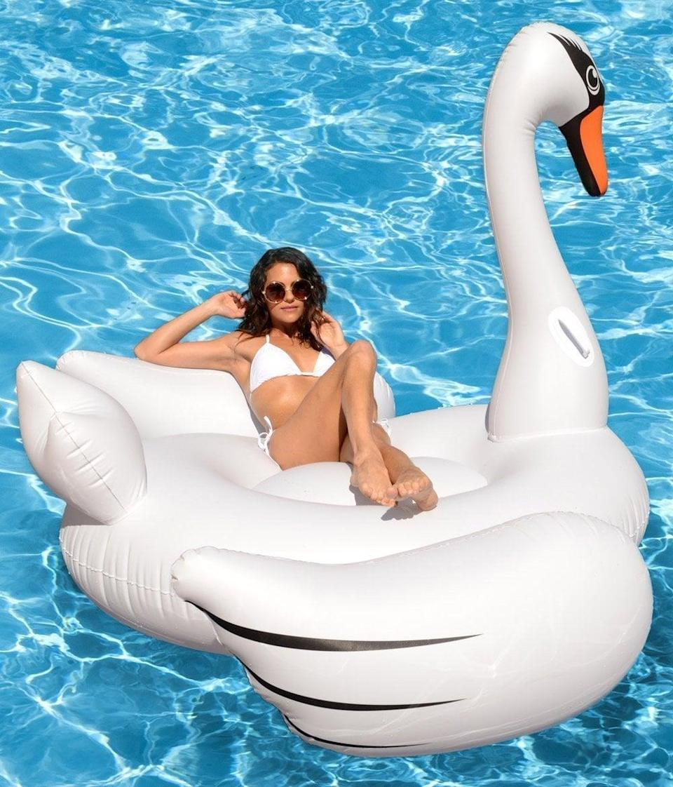 <p>This <span>Kangaroos Giant Swan Pool Float</span> ($40) is large enough to share with a friend (or two!).</p>