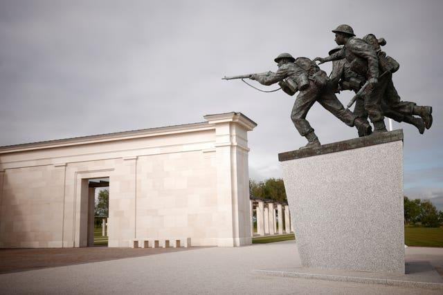 The new British Normandy Memorial at Ver-sur-Mer in France