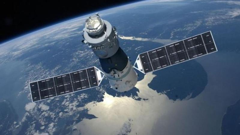 Tiangong-1. is expected to re-enter on Easter Sunday. Pic: CMSE