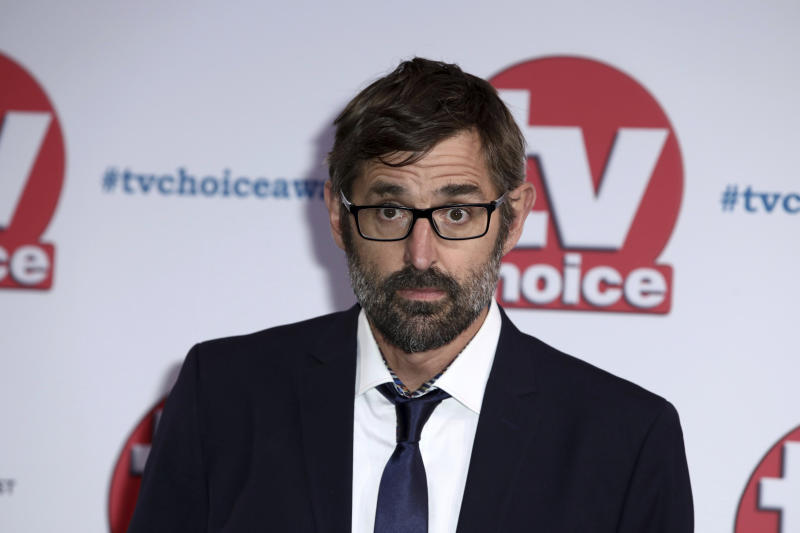 Documentary film maker Louis Theroux poses for photographers on arrival at the TV Choice Awards in central London on Monday, Sept. 9, 2019. (Photo by Grant Pollard/Invision/AP)