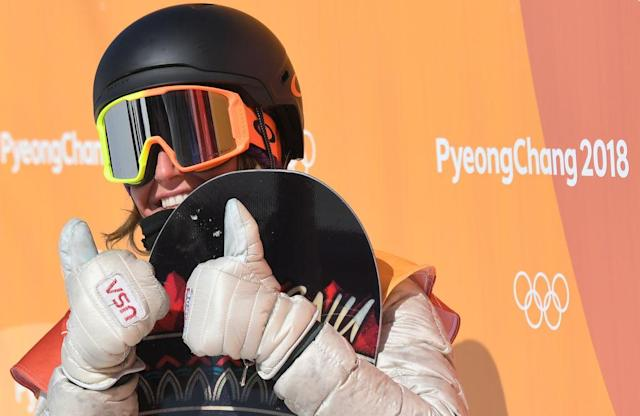 Jamie Anderson won her second consecutive Olympic gold medal in women's slopestyle. (Getty)