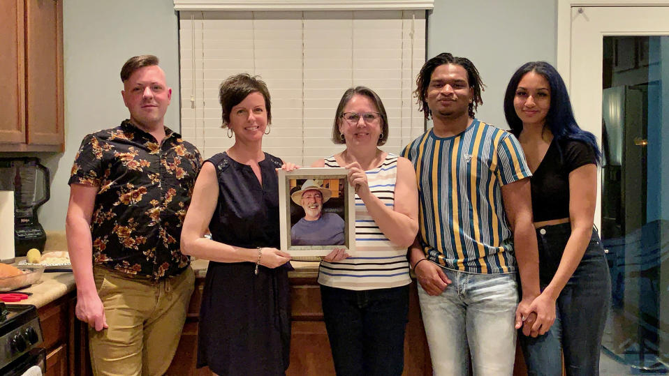 """""""We had a picture of my husband and my daughter put a candle in front of his picture at the head of the table."""
