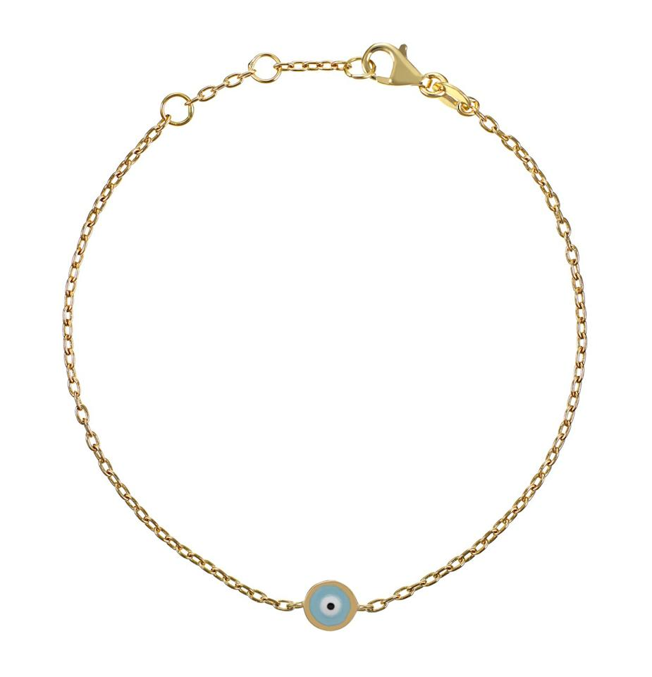 "Spotted on Meghan at the U.S Open in September, this 18-karat ""Evil Eye"" bracelet by Alemdara is handmade in the ancient markets of Instanbul. The royal mom also has a necklace from the brand, featuring the same navy blue enamel eye, long believed by many cultures to offer protection and bring good luck.  <strong>Buy it!</strong> Didem Bracelet, $355; <a href=""https://alemdara.com/collections/all-bracelets"" target=""_blank"" rel=""nofollow"">alemdara.com</a>"