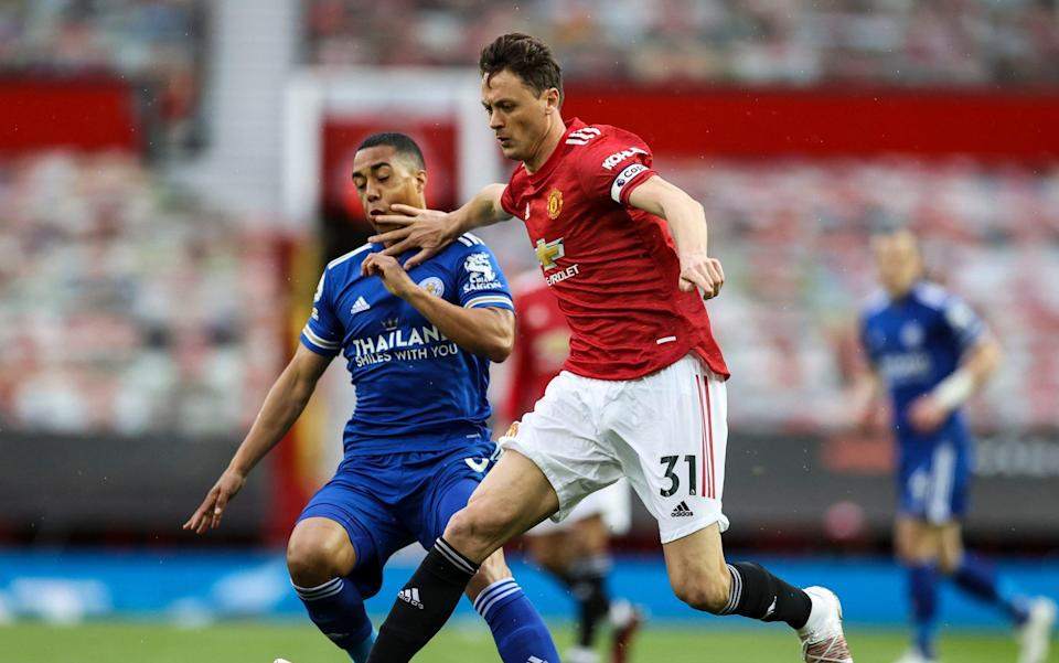 Pool Nemanja Matic of Manchester United and Youri Tielemans of Leicester City - Telegraph/Pool