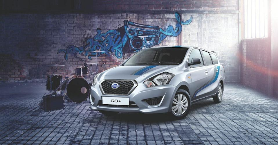<p>Datsun GO Plus; Price Range: Rs 3.84 to 5.00 lakh; Mileage: 20 kmpl </p>