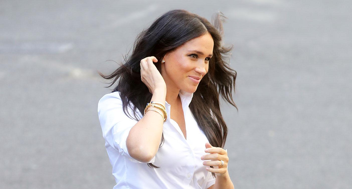 Meghan Markle arrives at the Smart Works launch. [Photo: Getty]