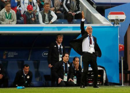 Soccer Football - World Cup - Group A - Russia vs Egypt - Saint Petersburg Stadium, Saint Petersburg, Russia - June 19, 2018 Egypt coach Hector Cuper reacts REUTERS/Lee Smith