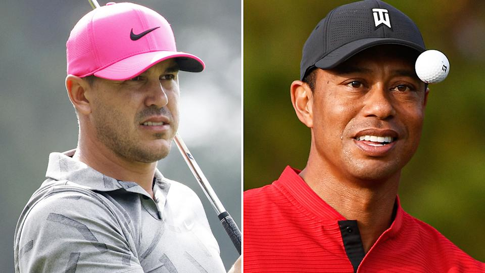 Brooks Koepka says the PGA Tour's new 'Player Impact Program' will likely reflect the massive publicity generated for the sport by superstar Tiger Woods. Pictures: Getty Images
