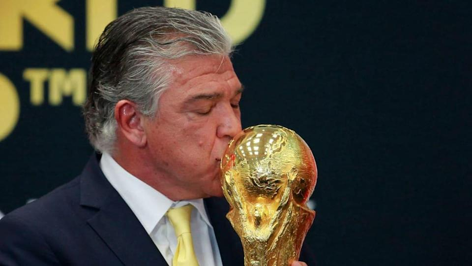 Enrique Pena Nieto President of Mexico Welcomes FIFA Trophy | Jam Media/Getty Images