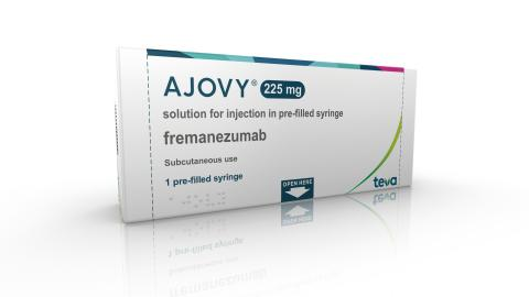 Teva's AJOVY® Receives EU Approval Offering Patients the First and Only Anti-CGRP Treatment with Both Quarterly and Monthly Dosing for the Prophylaxis of Migraine in Adults