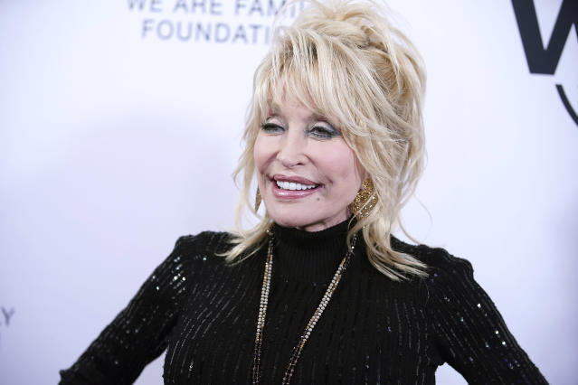 Dolly Parton attends We Are Family Foundation honors Dolly Parton & Jean Paul Gaultier at Hammerstein Ballroom on November 05, 2019 in New York City. (Photo by John Lamparski/Getty Images)