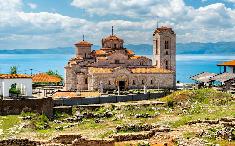 Saints Clement and Panteleimon Church at Plaosnik in Ohrid, North Macedonia