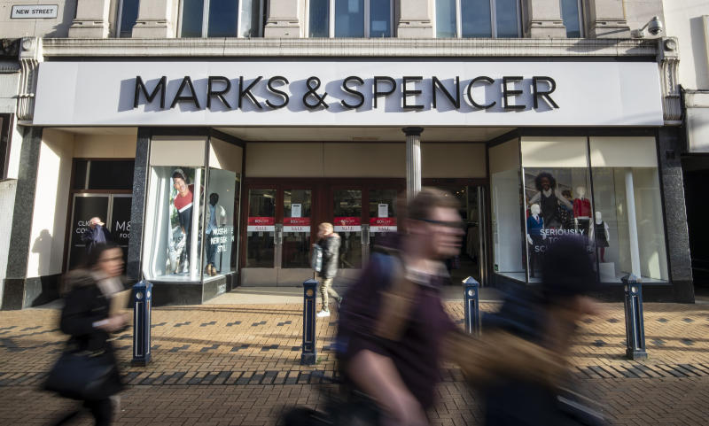 "File photo dated 15/01/19 of Marks & Spencer in Huddersfield, Yorkshire. The company has said it is rapidly pushing ahead with its turnaround plan after half-year sales slumped during a ""challenging"" period for its clothing and homeware business."