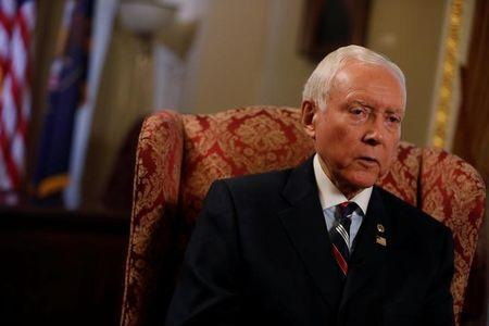 FILE PHOTO: Senator Orrin Hatch (R-UT), Chairman of the Senate Finance Committee, is seen during an interview on Capitol Hill in Washington