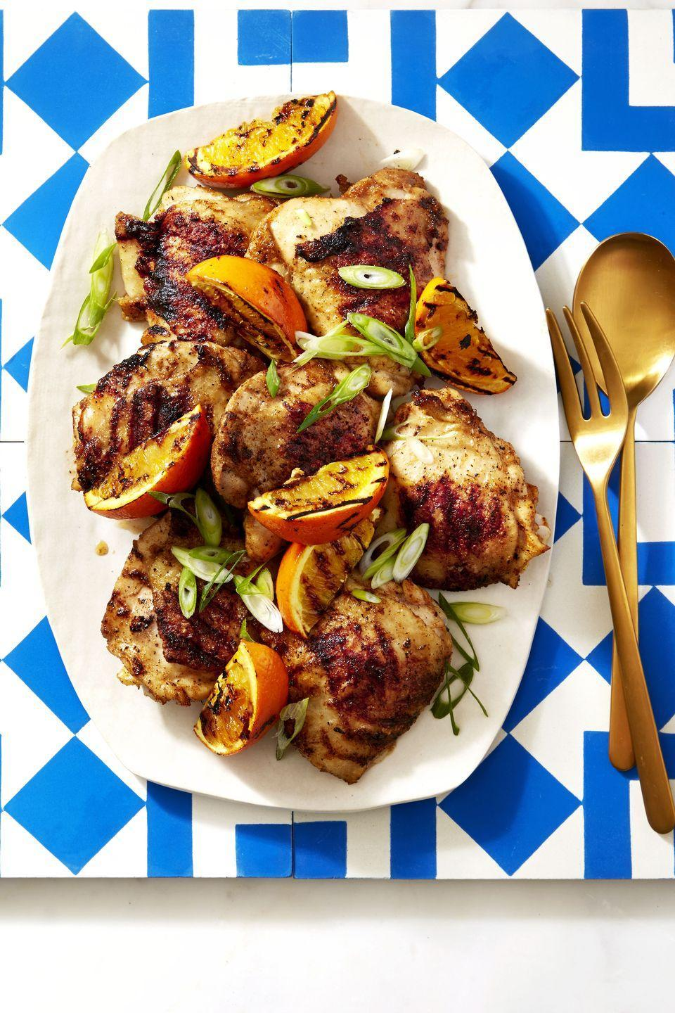 "<p><span>Everyone needs a standout grilled chicken recipe, and these spicy and citrusy thighs are our go-to.</span></p><p><span><a href=""https://www.goodhousekeeping.com/food-recipes/a39931/chipotle-orange-chicken-recipe/"" rel=""nofollow noopener"" target=""_blank"" data-ylk=""slk:Get the recipe for Chipotle Orange Chicken »"" class=""link rapid-noclick-resp""><em>Get the recipe for Chipotle Orange Chicken »</em></a></span></p>"
