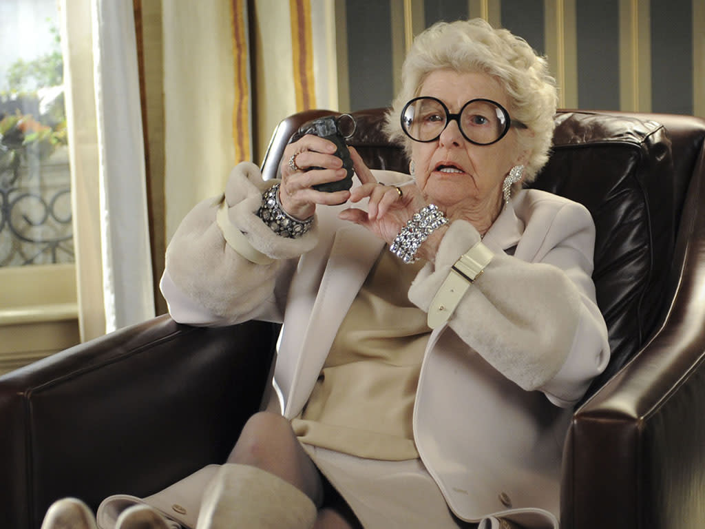 "30 ROCK -- ""My Whole Life is Thunder"" Episode 708 -- Pictured: Elaine Stritch as Colleen Donaghy"