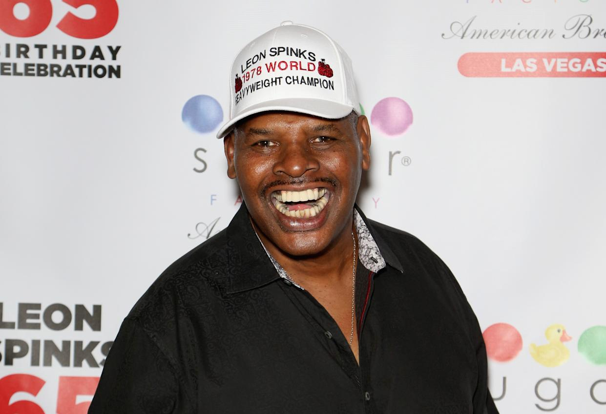 LAS VEGAS, NV - AUGUST 16:  Former boxer Leon Spinks attends his birthday celebration at the Chocolate Lounge at Sugar Factory American Brasserie at the Fashion Show Mall on August 16, 2018 in Las Vegas, Nevada.  (Photo by Gabe Ginsberg/Getty Images)