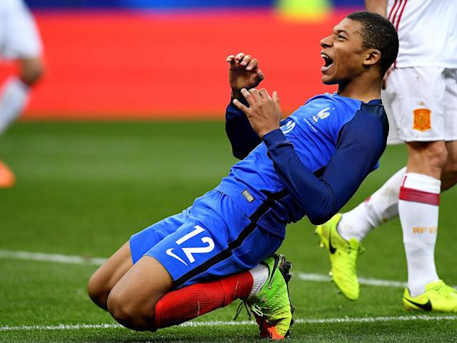 Kylian Mbappe looks right at home despite France's young guns going down defeat against Spain