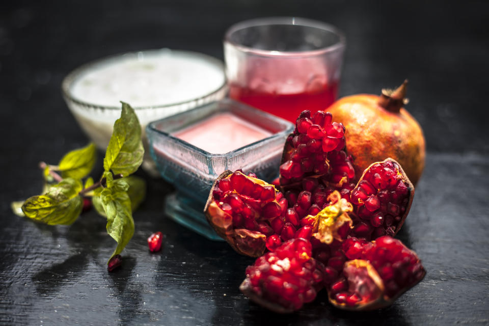 Pomegranate peels mixed with fresh milk make an excellent deep cleansing mask.