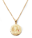 """<p><a class=""""link rapid-noclick-resp"""" href=""""https://anissakermiche.com/collections/necklaces/products/louise-dor-necklace"""" rel=""""nofollow noopener"""" target=""""_blank"""" data-ylk=""""slk:SHOP NOW"""">SHOP NOW</a></p><p>This gold medallion with a delicate touch of red is the dream investment piece to wear for all Lunar New Years to come.</p><p>Necklace, £1,195, Anissa Kermiche.</p>"""