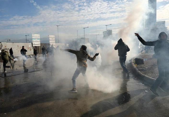 The demonstrators have been protesting since October against the hereditary political elite that has dominated Lebanon since the 1975-90 civil war and is widely blamed for the worsening economic crisis (AFP Photo/Anwar AMRO)