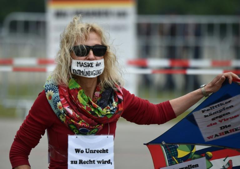 Protests in Germany have brought together diverse groups of conspiracy theorists, extremists, anti-vaxxers and people concerned about a curtailment of civil liberties
