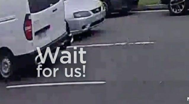 The little girl's family were parked outside a doctor's surgery when she broke free. Photo: 7 News