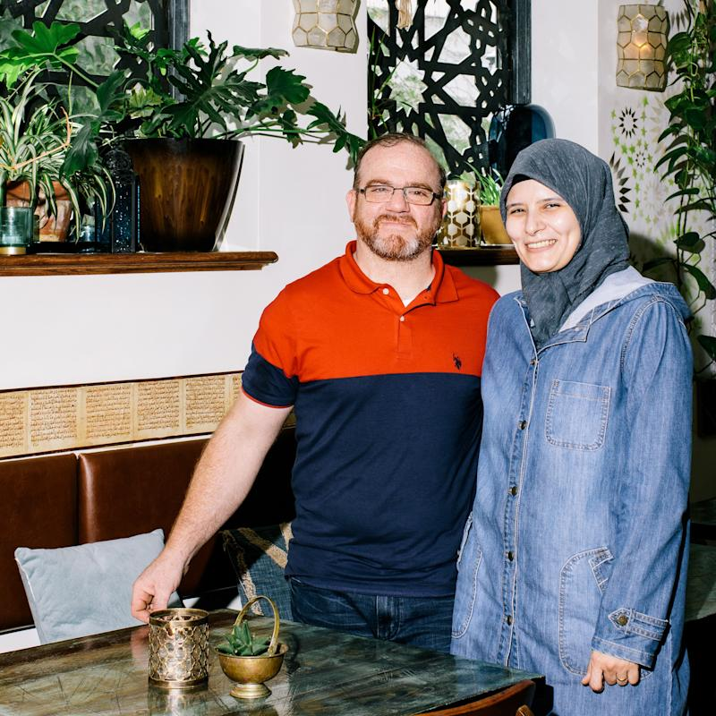 Youssef and Reem Akhtarini at home in their new space