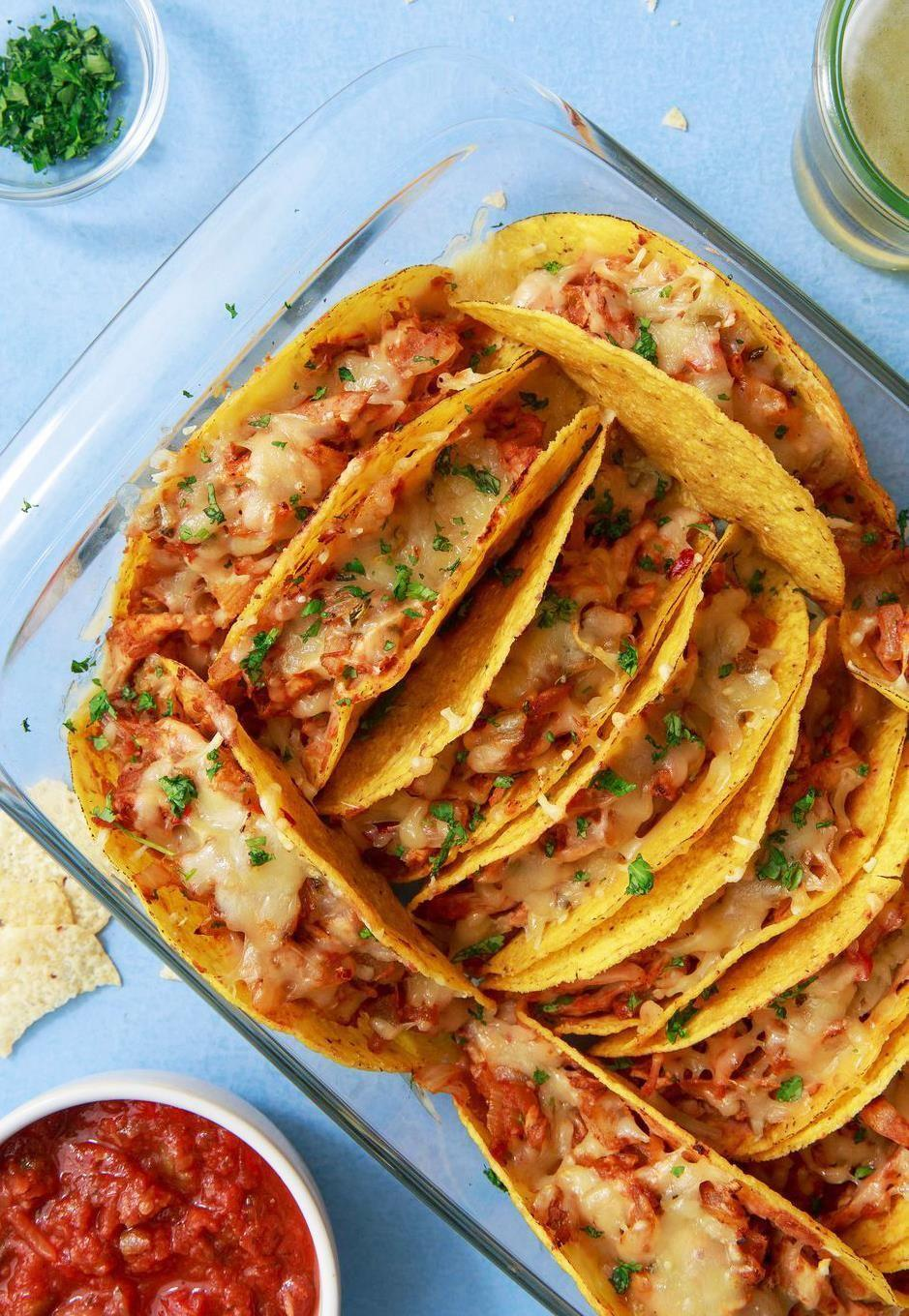 """<p>Taco Tuesday, on repeat.</p><p>Get the recipe from <a href=""""https://www.delish.com/cooking/recipe-ideas/recipes/a50265/cheesy-baked-tacos-recipe/"""" rel=""""nofollow noopener"""" target=""""_blank"""" data-ylk=""""slk:Delish"""" class=""""link rapid-noclick-resp"""">Delish</a>. </p>"""