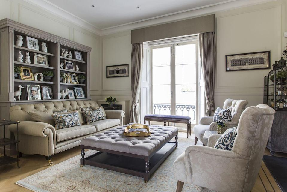 """<p>A four storey home in Knightsbridge might sound like the stuff of dreams for most people but it can be yours for a staycation.</p><p> Inside the house you'll find a an eight-seater table beneath a vaulted glass ceiling, a TV hidden inside a dolls' house, a share courtyard garden and mezzanine level terrace, three bedrooms and two bathrooms. Located in the centre between Knightsbridge, Sloane Square and South Kensington, you couldn't be in a better spot for shopping and luxury. </p><p><a class=""""link rapid-noclick-resp"""" href=""""https://www.onefinestay.com/home-listing/OVI384/"""" rel=""""nofollow noopener"""" target=""""_blank"""" data-ylk=""""slk:BOOK HERE"""">BOOK HERE</a></p>"""