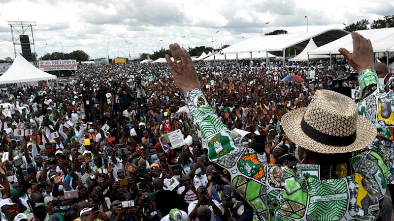 Thousands rally in support of Ivory Coast opposition candidate Bedie