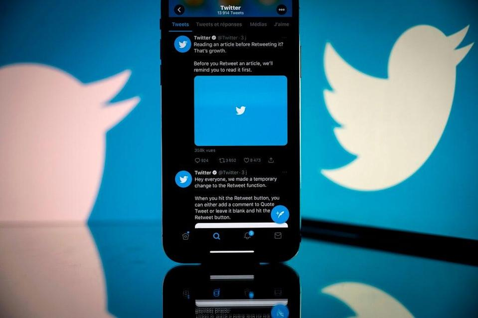 File: Bluesky is a decentralised social media network project funded by Twitter  (AFP via Getty Images)