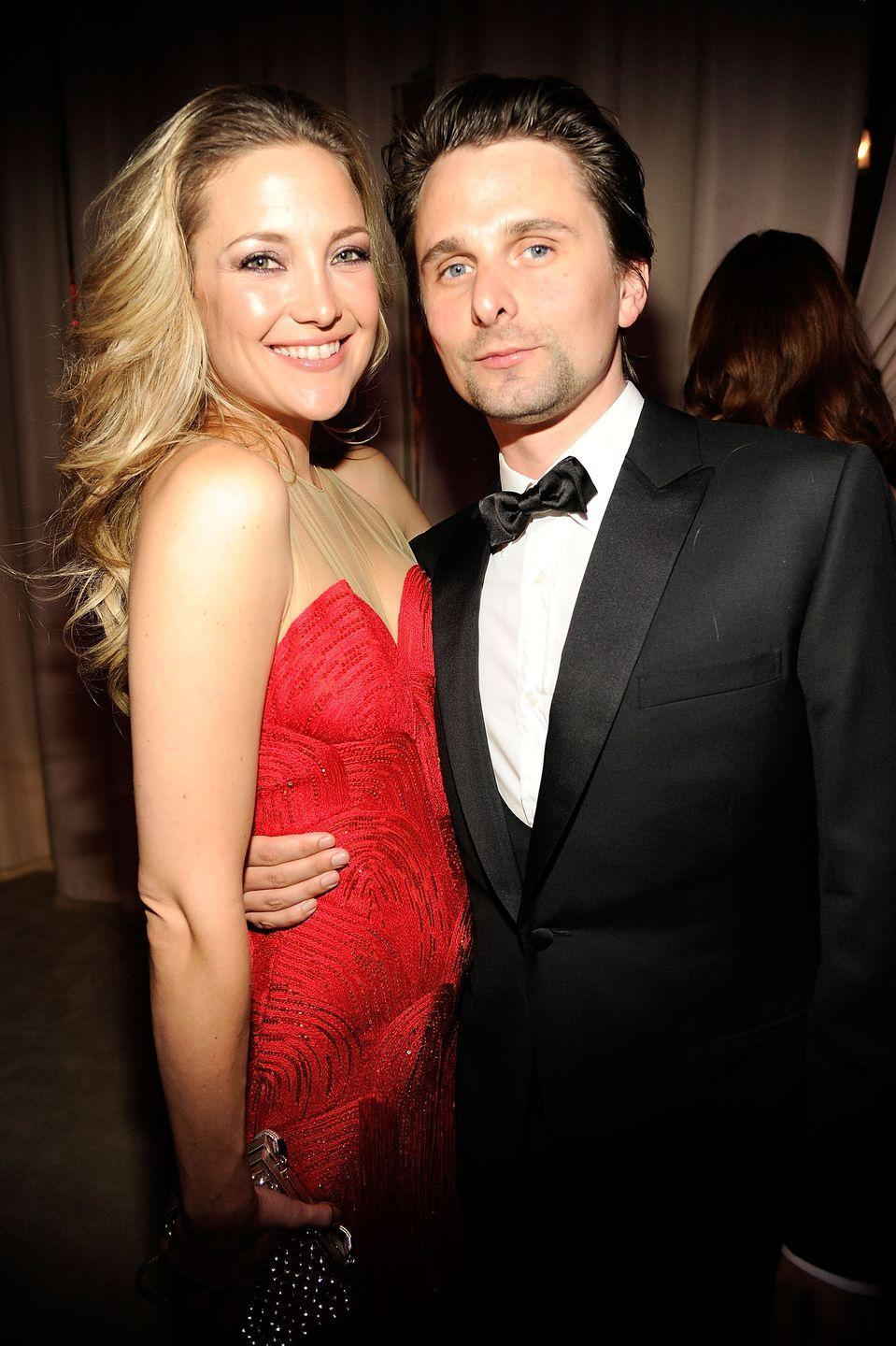 """<p>After four years and the birth of their son Bingham together, Hudson and the Muse frontman <a href=""""https://people.com/celebrity/kate-hudson-matt-bellamy-split-couple-breaks-off-engagement/"""" rel=""""nofollow noopener"""" target=""""_blank"""" data-ylk=""""slk:ended their engagement in 2014"""" class=""""link rapid-noclick-resp"""">ended their engagement in 2014</a>. """"Kate and Matt have been separated for some time now,"""" her rep told <em>People </em>at the time. """"Despite this, they remain very close friends and committed co-parents.""""</p>"""