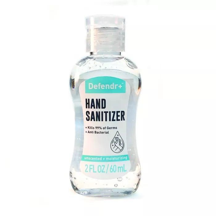 <p>The quick-drying formula in the <span>Defendr+ Anti-Bacterial Hand Sanitizer - 2 fl oz</span> ($1) is perfect for on the go.</p>