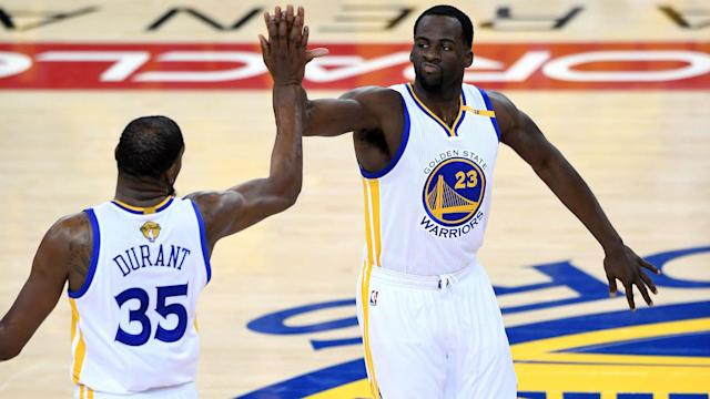 Kevin Durant makes the Golden State Warriors unbeatable, according to Draymond Green.