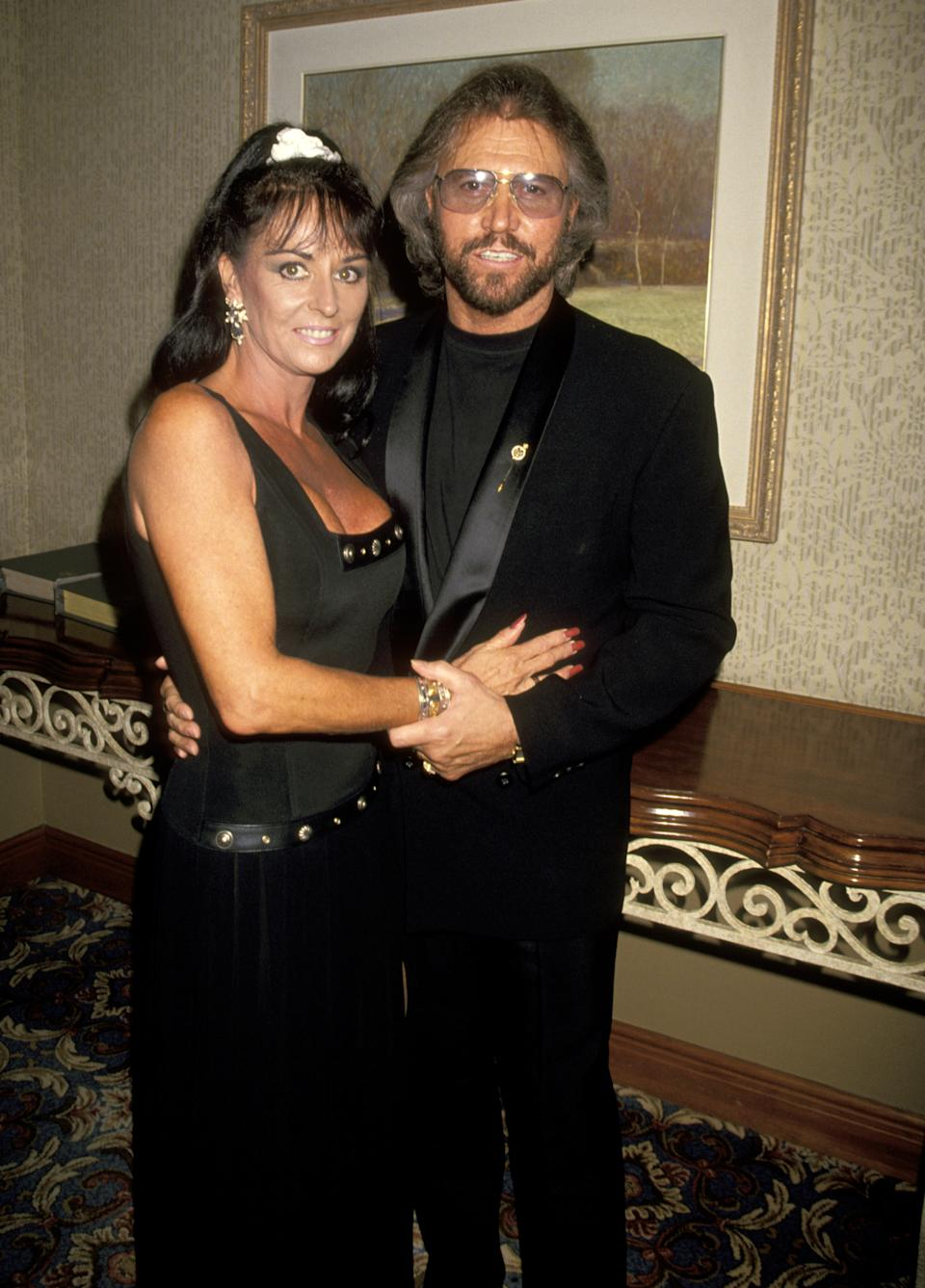 Barry Gibb and Wife Linda Ann Gray during 25th Annual Songwriters Hall of Fame Awards Dinner and Ceremony at Sheraton Hotel in New York, New York, United States. (Photo by Jim Smeal/Ron Galella Collection via Getty Images)